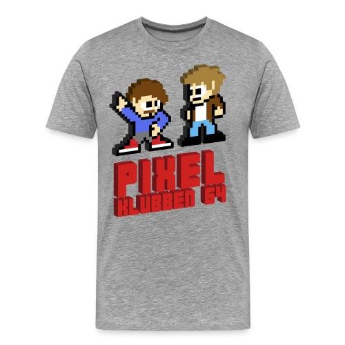 Premium-T-shirt herr - Stöd din favoritpodcast Pixelklubben 64!