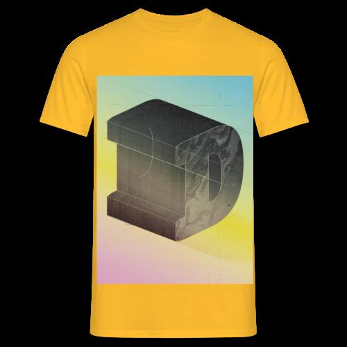 Dyellow D d Buchstabe - Männer T-Shirt