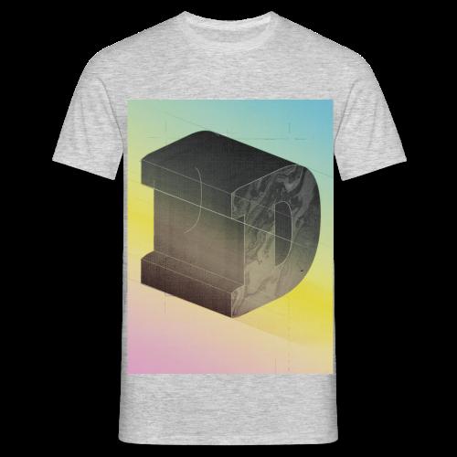D gre Letter Font Schrift - Männer T-Shirt
