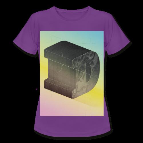 constructed letter D - Frauen T-Shirt