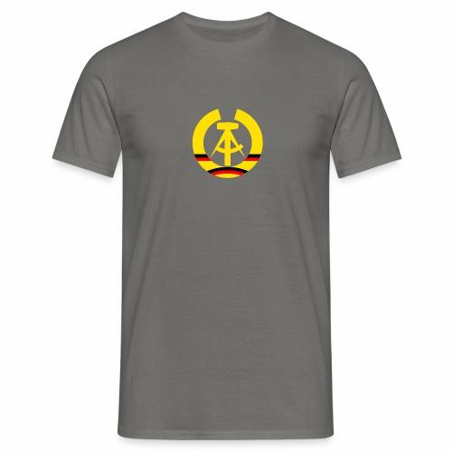 DDR Wappen stilisiert (alleinstehend) - Men's T-Shirt