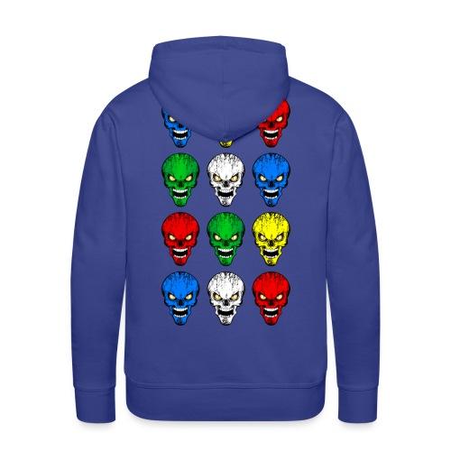 Skulls, têtes de mort - Sweat-shirt à capuche Premium pour hommes