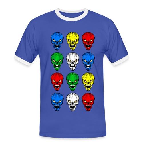 Skulls, têtes de mort - T-shirt contrasté Homme
