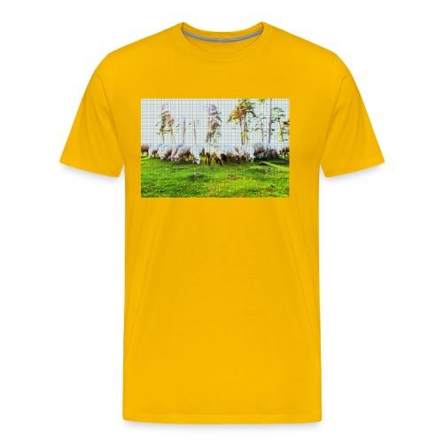 Schafe Gelb - Männer Premium T-Shirt