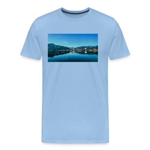 Tegernsee Pixel - Männer Premium T-Shirt