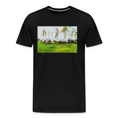 Schafe Schwarz - Männer Premium T-Shirt