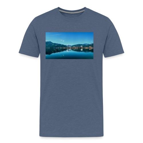 Tegernsee Pixel 2 - Männer Premium T-Shirt