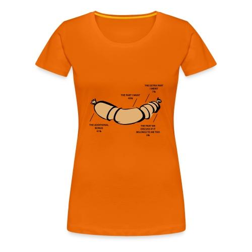 Egoist Wurst Chart - Frauen Premium T-Shirt