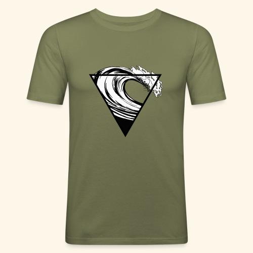 Wave - Männer Slim Fit T-Shirt