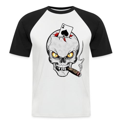 Skull poker - T-shirt baseball manches courtes Homme