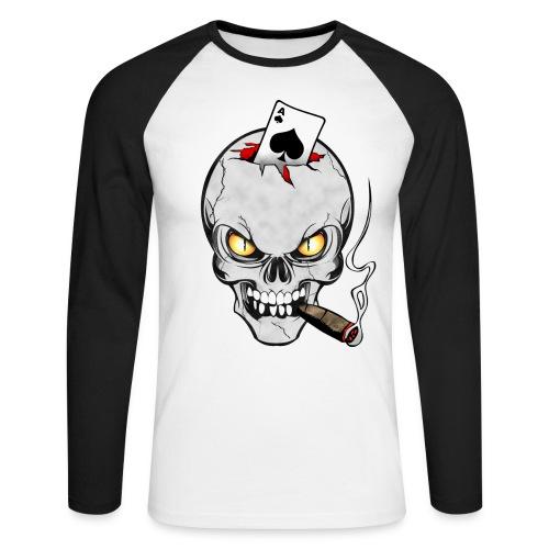 Skull poker - T-shirt baseball manches longues Homme