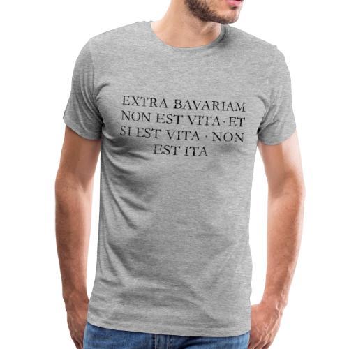 Extra Bavariam T-Shirt (Vintage Schwarz) - Männer Premium T-Shirt