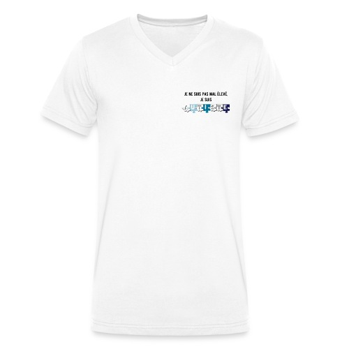 T-shirt bio col V Stanley & Stella Homme - Modèle : Je ne suis pas mal élevé, je suis autiste