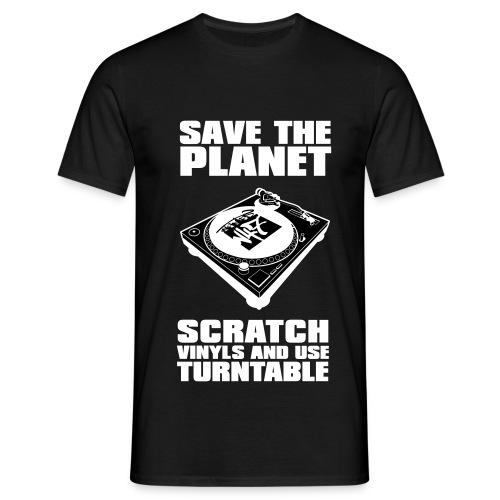 T-Shirt homme scratch vinyl N47 - T-shirt Homme