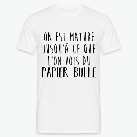 T-shirt Papier bull blanc par Tshirt Family