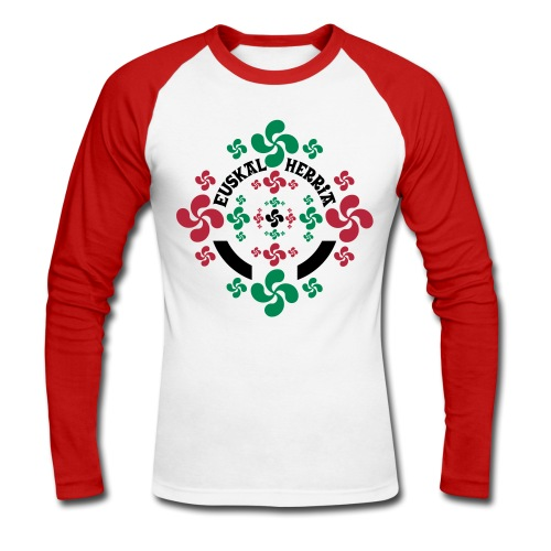 Croix Basque Lauburu - T-shirt baseball manches longues Homme