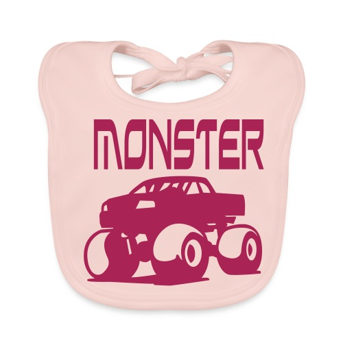 Mini monster pink - Ekologisk babyhaklapp
