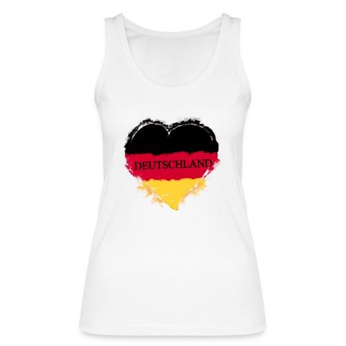 Deutschland Herz | Frauen Bio Tank Top - Frauen Bio Tank Top von Stanley & Stella