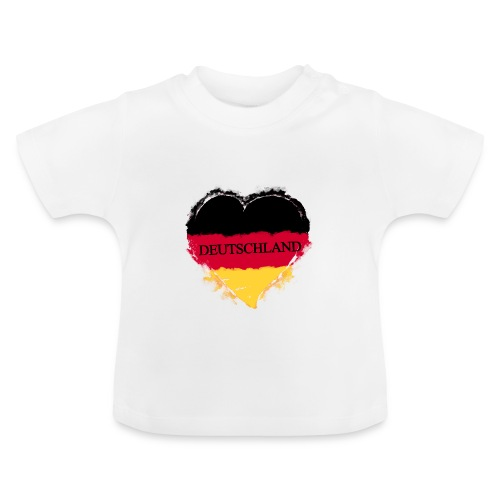 Deutschland Herz   Baby T-Shirt - Baby T-Shirt