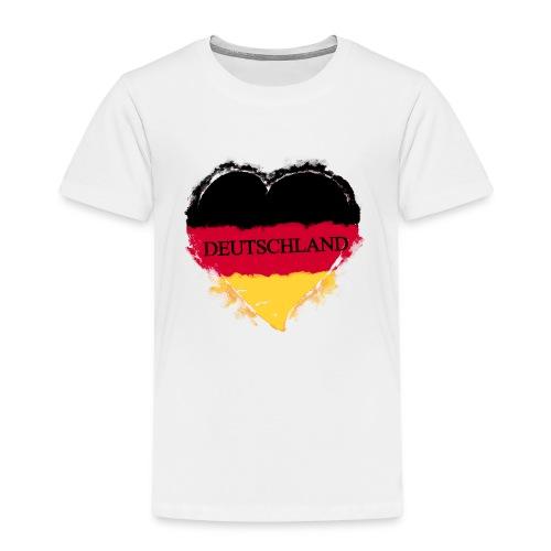 Deutschland Herz   Kinder Premium T-Shirt - Kinder Premium T-Shirt