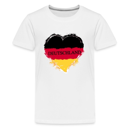Deutschland Herz   Teenager Premium T-Shirt - Teenager Premium T-Shirt