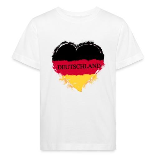 Deutschland Herz | Kinder Bio-T-Shirt - Kinder Bio-T-Shirt