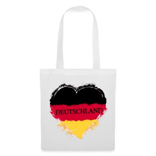 Deutschland Herz | Stoffbeutel - Stoffbeutel