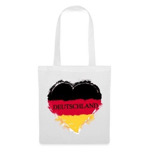 Deutschland Herz   Stoffbeutel - Stoffbeutel