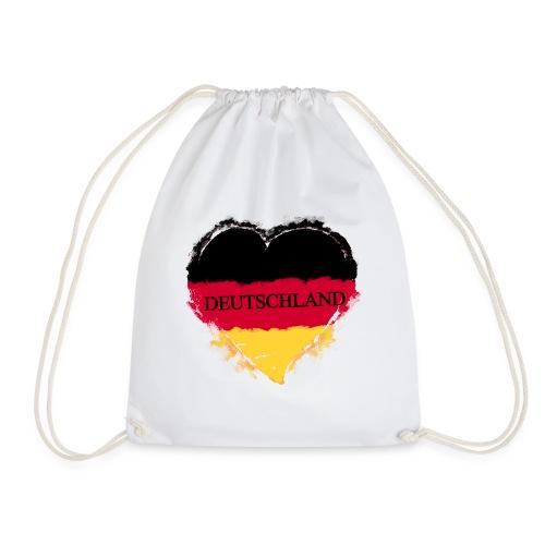 Deutschland Herz | Turnbeutel - Turnbeutel