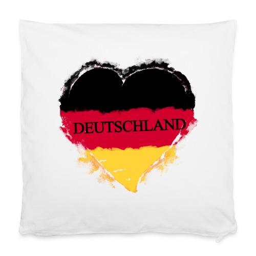 Deutschland Herz | Kissenbezug 40 x 40 cm - Kissenbezug 40 x 40 cm