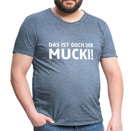 NEU! Männer Vintage T-Shirt - MUCKI - Männer Vintage T-Shirt