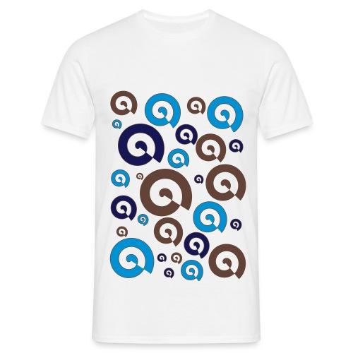 T-shirt psychédélique en spirale - T-shirt Homme