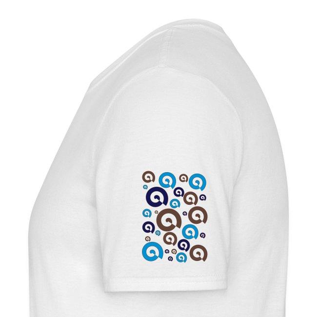 T-shirt psychédélique en spirale