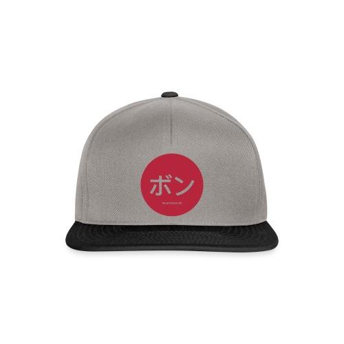 Bonn Japanisch Snapback Cap Grau (ボン = Bon) - Snapback Cap