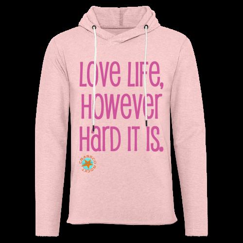 LOVE LIFE - Leichtes Kapuzensweatshirt Unisex