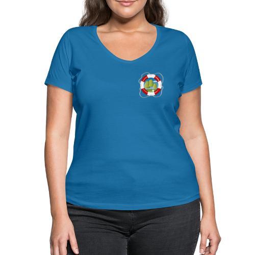 Save the nature - Brustlogo - Frauen Bio-T-Shirt V-Ausschnitt - Frauen Bio-T-Shirt mit V-Ausschnitt von Stanley & Stella