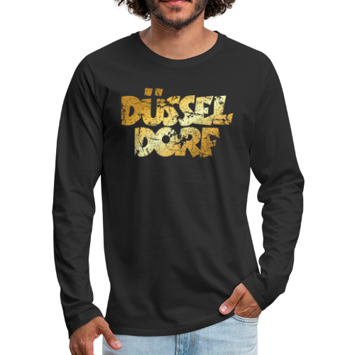 Düsseldorf Shirt (Vintage Gold) - Männer Premium Langarmshirt