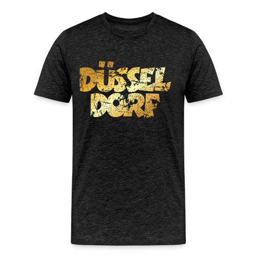 Düsseldorf T-Shirt (Vintage Gold) - Männer Premium T-Shirt