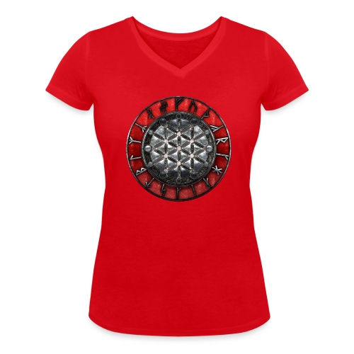 Gudrun's Rune Circle Women - T-shirt bio col V Stanley & Stella Femme