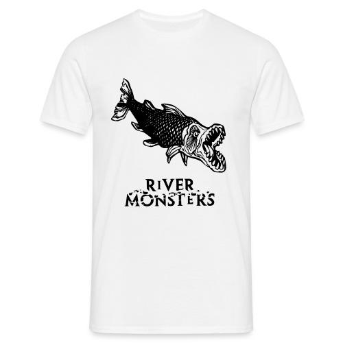 Men's River Monsters Stencil T-Shirt Goliath Tiger Fish - Men's T-Shirt