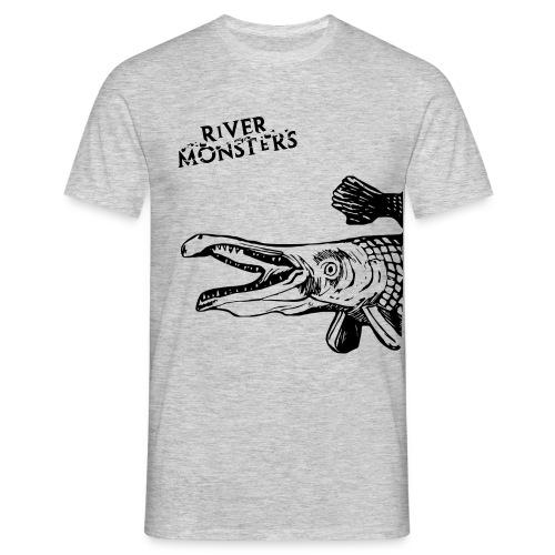 Men's River Monsters Stencil T-Shirt - Alligator Gar - Men's T-Shirt