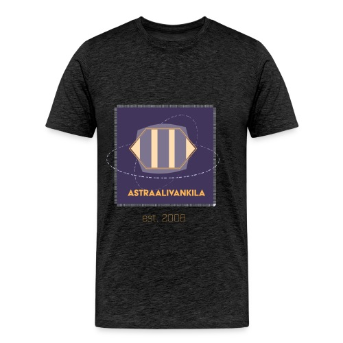Purple Elegance Grey - Miesten premium t-paita