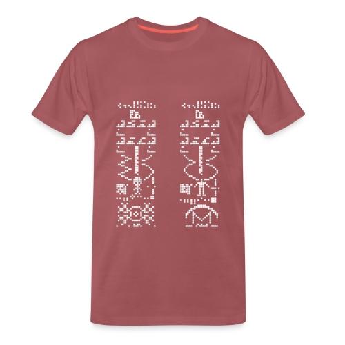 T-shirt Premium Homme Nuréa : Message Alien - T-shirt Premium Homme