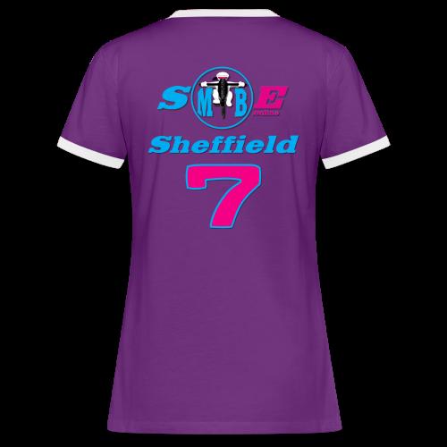 Ladies Sheffield 7 Rings - Women's Ringer T-Shirt