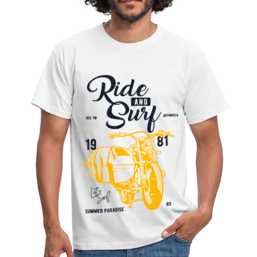 Ride and Surf - T-shirt Homme