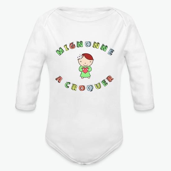 Body Bébé Mignonne a croquer blanc par Tshirt Family