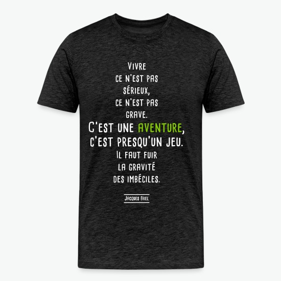 Tee shirt jacques brel charbon par Tshirt Family