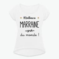 T-shirt Meilleure Marraine du monde vecteur blanc par Tshirt Family