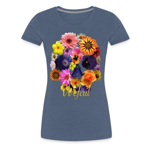 Flower Skull (Women's fit) - Women's Premium T-Shirt