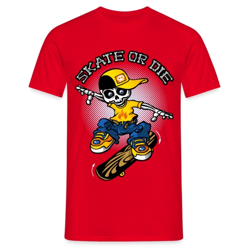 Squelette et skateboard - T-shirt Homme